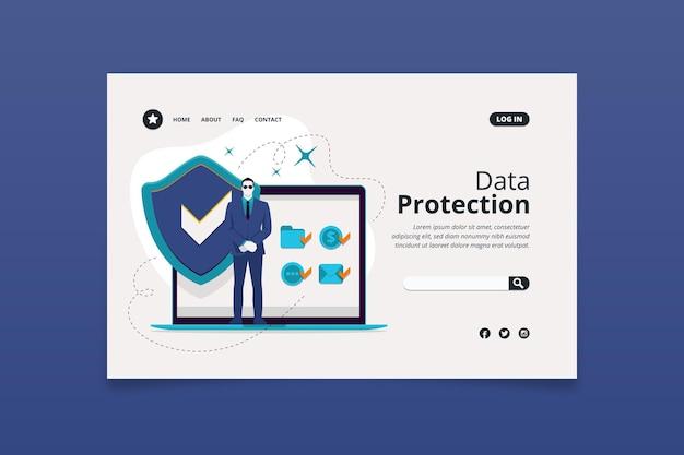 Datenschutz-landingpage