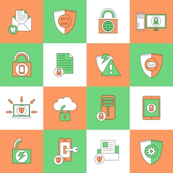 Datenschutz-sicherheits-ikonen