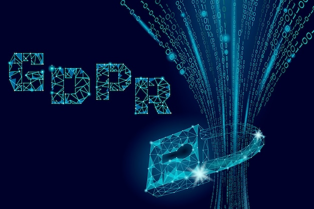 Datenschutzgesetz dsgvo. sicherheitsschild für datenschutzrelevante informationen europäische union