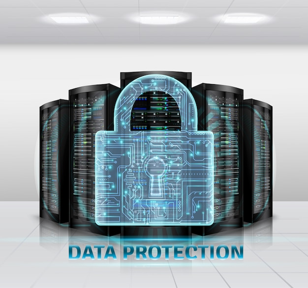 Datenschutzillustration