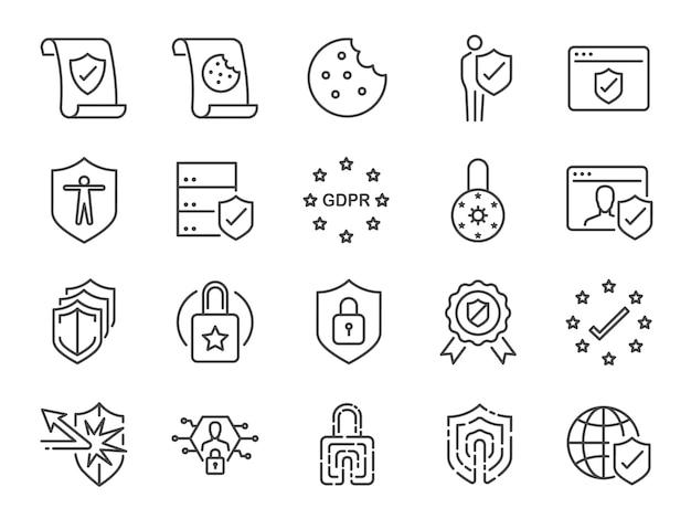 Datenschutzrichtlinie-icon-set.
