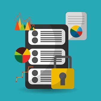 Datenserver-sicherheitsfinanzinformationen