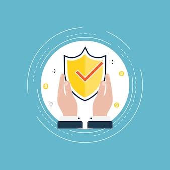 Datensicherheitsdesign für webbanner und apps