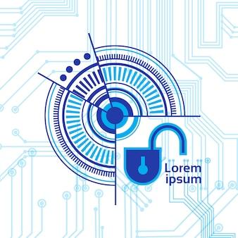 Datensicherheitskonzept open-lock-zugriffssystemkonzept moderne schutztechnologie