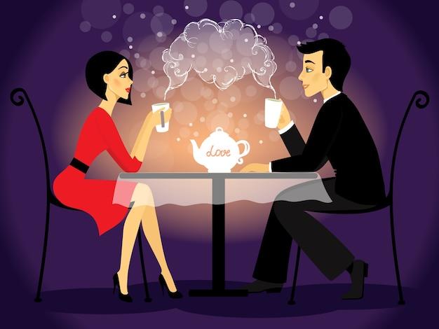 Datierungspaarszene, liebesgeständnis