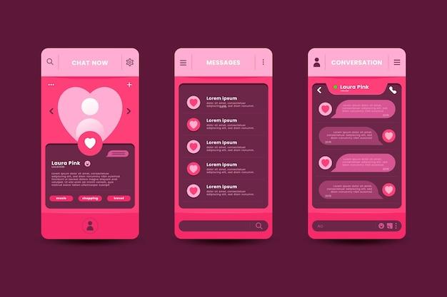 Dating app chat-oberfläche