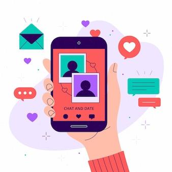 Dating app konzept