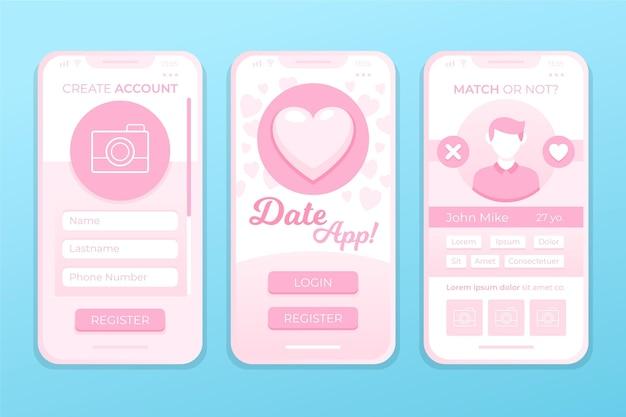 Dating app schnittstellenkonzept
