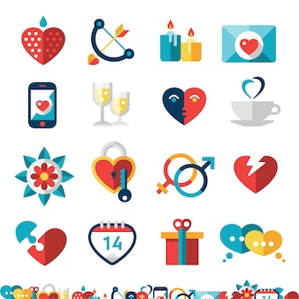 Dating-icon-set
