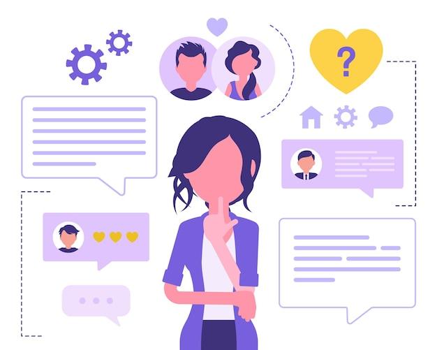 Dating-service für weibliche nutzer