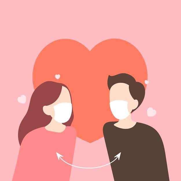Dating während einer pandemie covid-19-bewusstsein