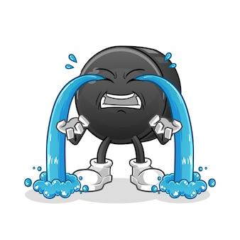 Datumsfrucht weinende illustration