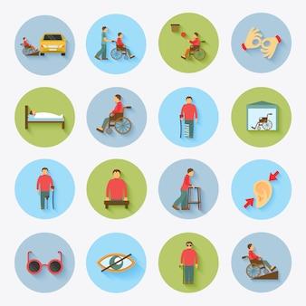 Deaktivierte icons set flat