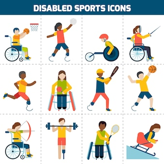 Deaktivierte sport icons