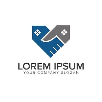 Deal-immobilien-logo-design-konzept-vorlage