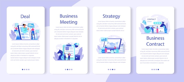 Deal mobile application banner in flachem design.