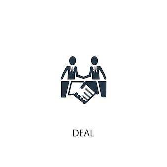 Deal-symbol. einfache elementabbildung. deal-konzept-symbol-design. kann für web und mobile verwendet werden.