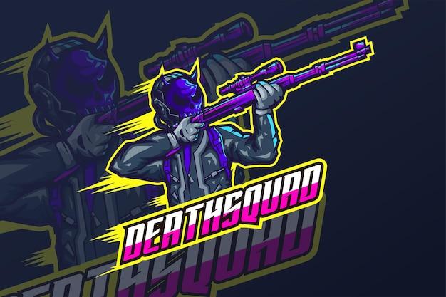 Death squad - esport-logo-vorlage