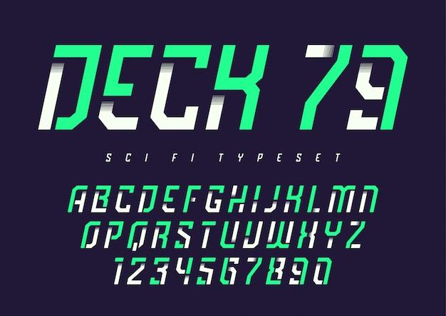 Deck 79 futuristische industrieanzeigeschrift, al