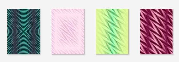 Deckblatt der unternehmensbroschüre. einfacher flyer, buch, tagebuch, tapetenmodell. gelb und rosa. titelseite der unternehmensbroschüre mit minimalistischem geometrischem element.