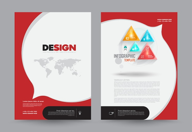 Deckblatt prospekt flyer a4-format