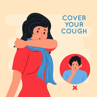 Decken sie ihre husten-coronavirus-pandemie ab