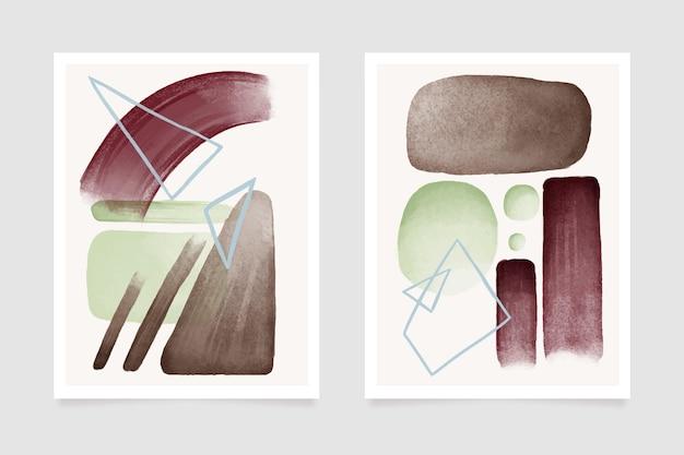 Deckt bunte aquarellformen des stils ab