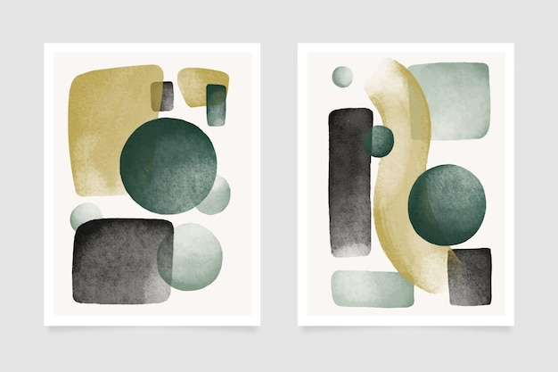 Deckt design abstrakte aquarellformen ab