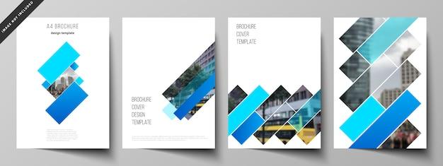 Deckt vorlagen für broschüren ab