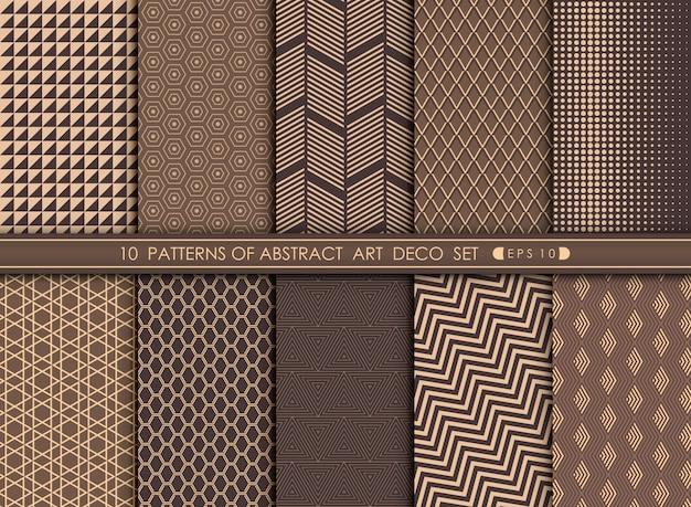 Deco-muster der abstrakten kunst gesetzter hintergrund.