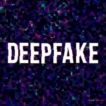Deep fake bei gestörten hintergrund.