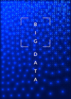 Deep-learning-konzept. abstrakter hintergrund der digitaltechnik. künstliche intelligenz und big data. tech-visual für datenbankvorlage. fraktales deep-learning-hintergrund.