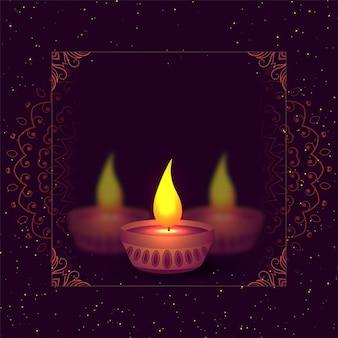 Deepwali diya hintergrund