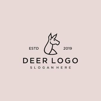 Deer logo design vorlage