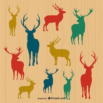 Deer silhouetten