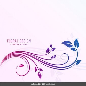 Degraded farben floral background
