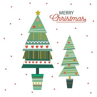 Dekoration des weihnachtsbaumes
