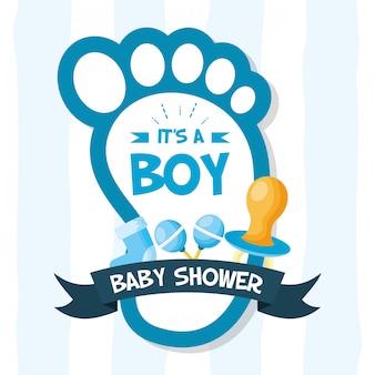 Dekoration für babypartykarte