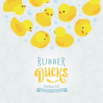 Dekorationsdesign aus gelben gummienten