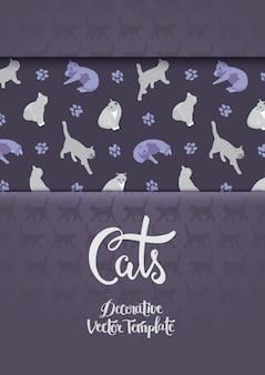Dekorationsdesign mit den katzen