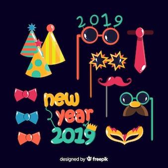 Dekorationset des neuen jahres 2019