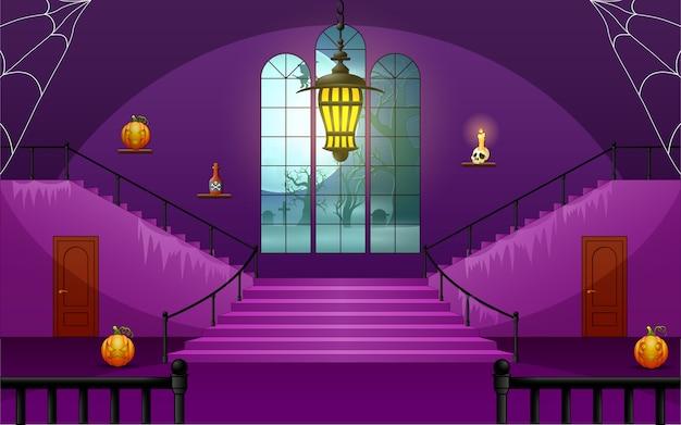 Dekorationshaus von halloween-tag