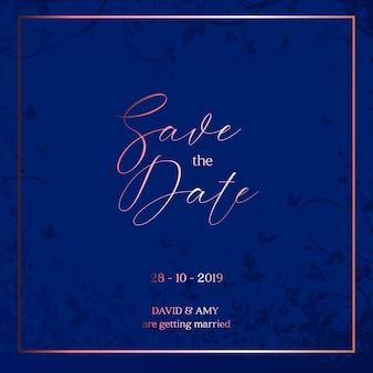 Dekorativ save the date design