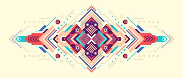 Dekorative abstrakte illustration.