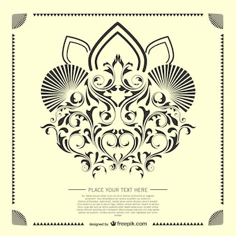 Dekorative arabeske karte vorlage