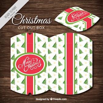 Dekorative ausschneiden weihnachtskasten