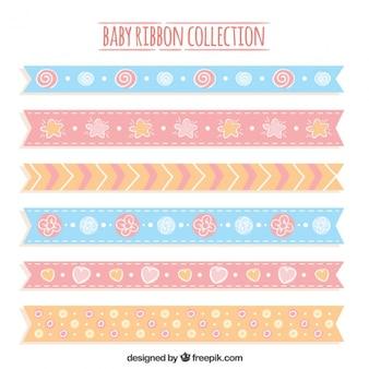 Dekorative baby bänder in pastellfarben