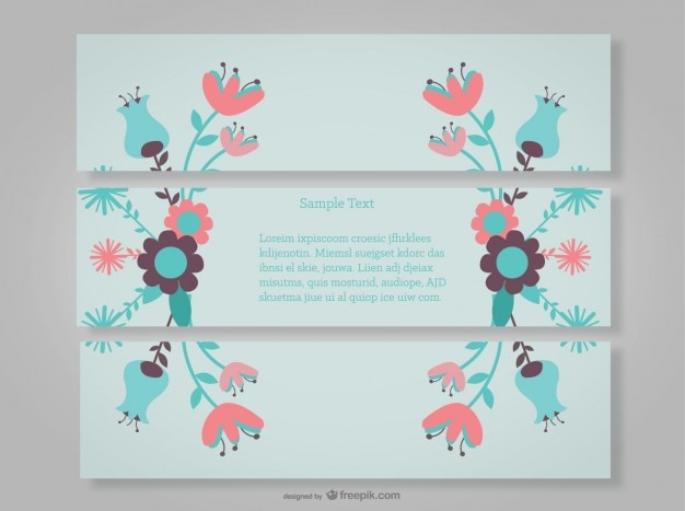 Dekorative blumen-banner mit blumen