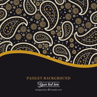 Dekorative blumen paisley-hintergrund