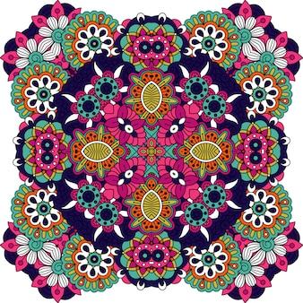 Dekorative dekorative mit blumenmandala